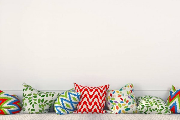 Our cushions are made in different sizes, depending on the requirements of the decoration. Sizes range from 12 inches to 24 inches.